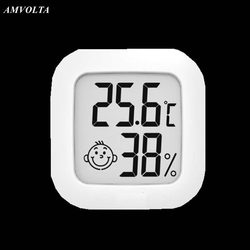 Amvolta Digital Thermometer Hygrometer Indoor Mini Temperature Humidity Meter Outdoor LCD Electronic Monitor Baby Room