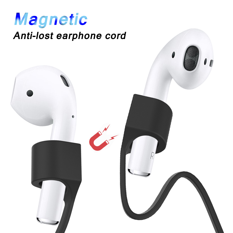 Magnetic Anti Lost Earphone Strap For Airpods TWS Magnetic String Rope For Bluetooth Earphones Soft TPU Silicone Headphone Cord