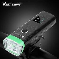 WEST BIKING велосипедный передний светильник, индукционный велосипедный яркий светильник, зарядка через usb, вспышка, светильник для велоспорта, ...