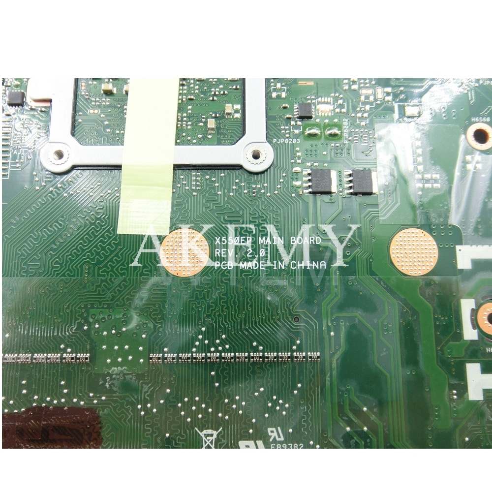 Image 5 - X550EP Motherboard E2 6100 CPU 4GB RAM For ASUS X550E X550EP  X550E D552E X552E Laptop motherboard X550EP Mainboard test 100%  OKMotherboards