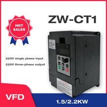 VFD Inverter VFD 1.5KW /2.2KW Frequency Inverter ZW-CT1 3P 220V Output Frequency Converter Variable Frequency Drive