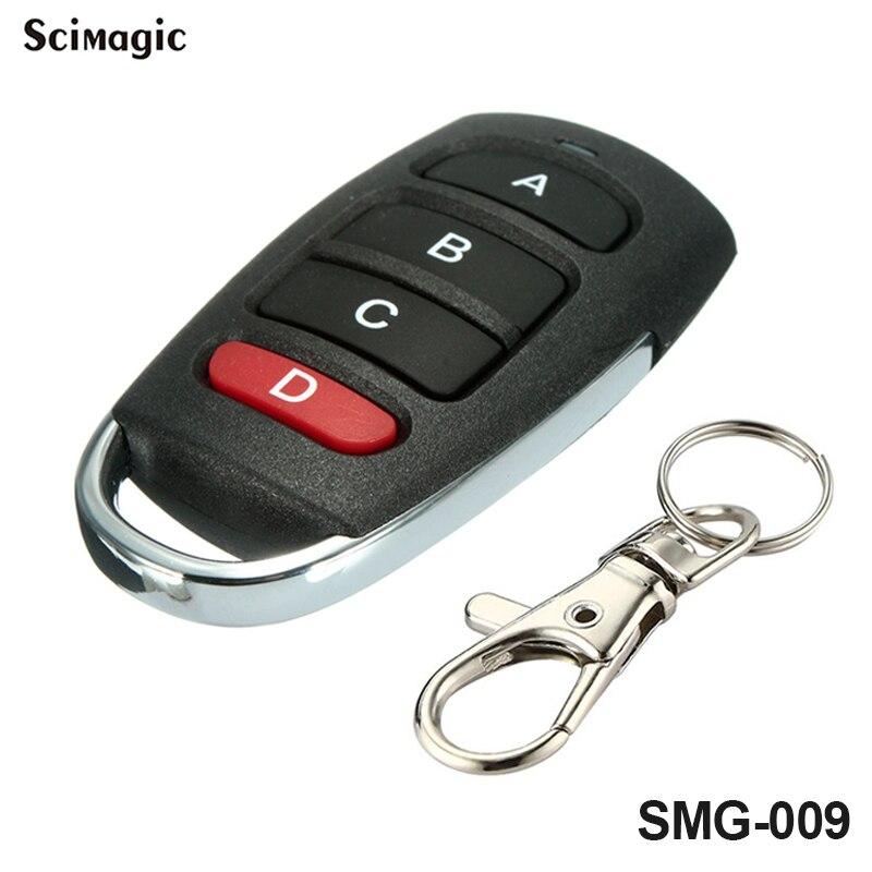 433MHZ Garage Door 4 Button Electric Door Clone Remote Control Anti-theft Lock Keychain