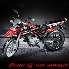 481 pièces ville technique classique moto modèle blocs de construction briques moteur ville tout-terrain moto véhicule enfant jouet garçons cadeau
