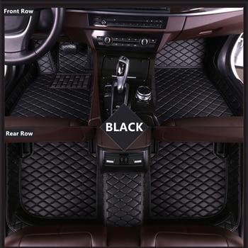 SJ ALL Weather Custom Fit Car Floor Mats Front & Rear FloorLiner Styling Auto Parts Carpet Mat For Cadillac ATS-L 2014 2015-2018