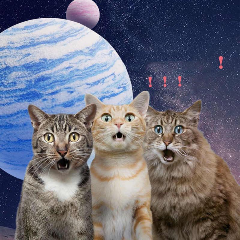 1Pc 3 Kleuren 4 Cm Kat Speelgoed Regenboog Planeet Speelgoed Bal Interactieve Kat Speelgoed Spelen Chew Rammelaar Kras Eva bal Training Dierbenodigdheden
