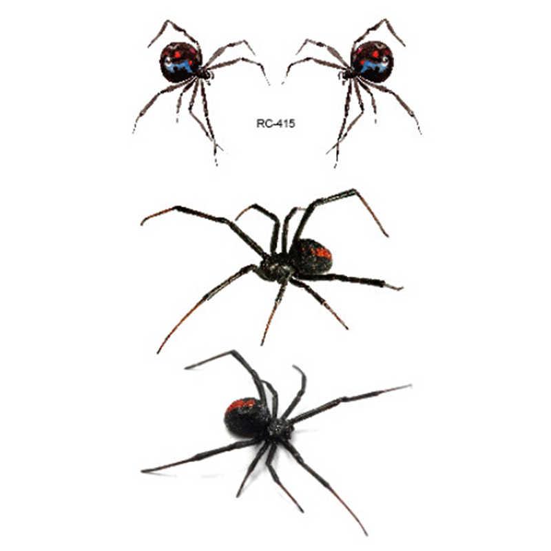 חדש עמיד למים זמני קעקוע מדבקת 3D עכביש ליל כל הקדושים קעקוע העברת מים פלאש קעקוע מזויף קעקוע עבור גברים נשים