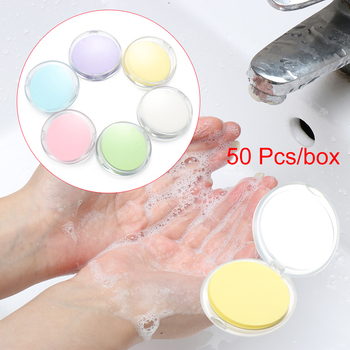 50pcs Disposable Boxed Soap Paper Travel Portable Hand Washing Scented Slice Sheets Mini Soap Paper Outdoors Clean Tools