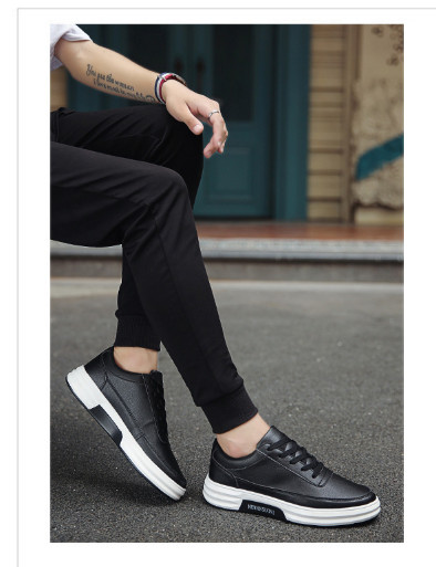 Shoes Men Trend Men's Shoes Summer Breathable Men's Wild Casual Shoes Leather Shoes Men's Board Shoes
