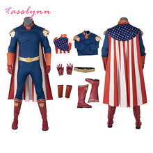 Homelander Cosplay Halloween Costume for Kids Men Adult The Boys Superhero Outfit Antony Starr Jumpsuit Shoes Custom Made