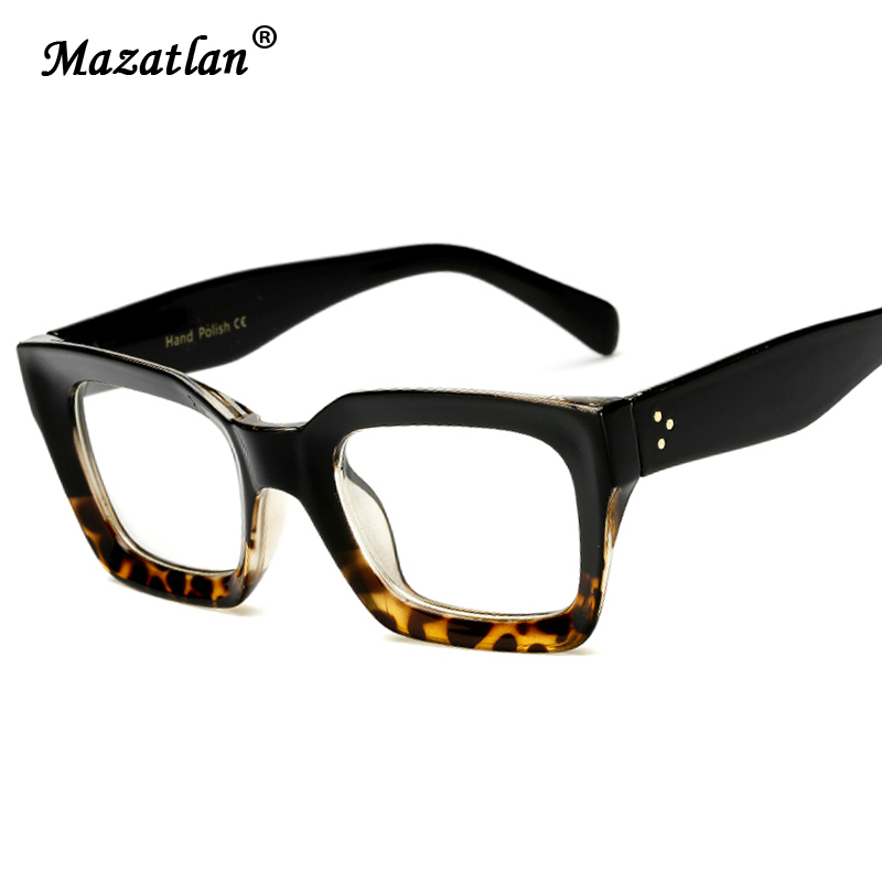 Cat Eye Glasses Frame Large Frame Optical Glasses Women Reading Glasses Brand Designer Glasses Frame Leopard Female Glasses