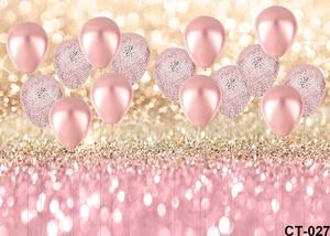 Image 2 - עלה זהב אספקת קישוטים למסיבת ורוד בלון גליטר Bokeh רקע תמונה יום הולדת לילדה תינוק כלה מקלחת סטודיו אבזרי