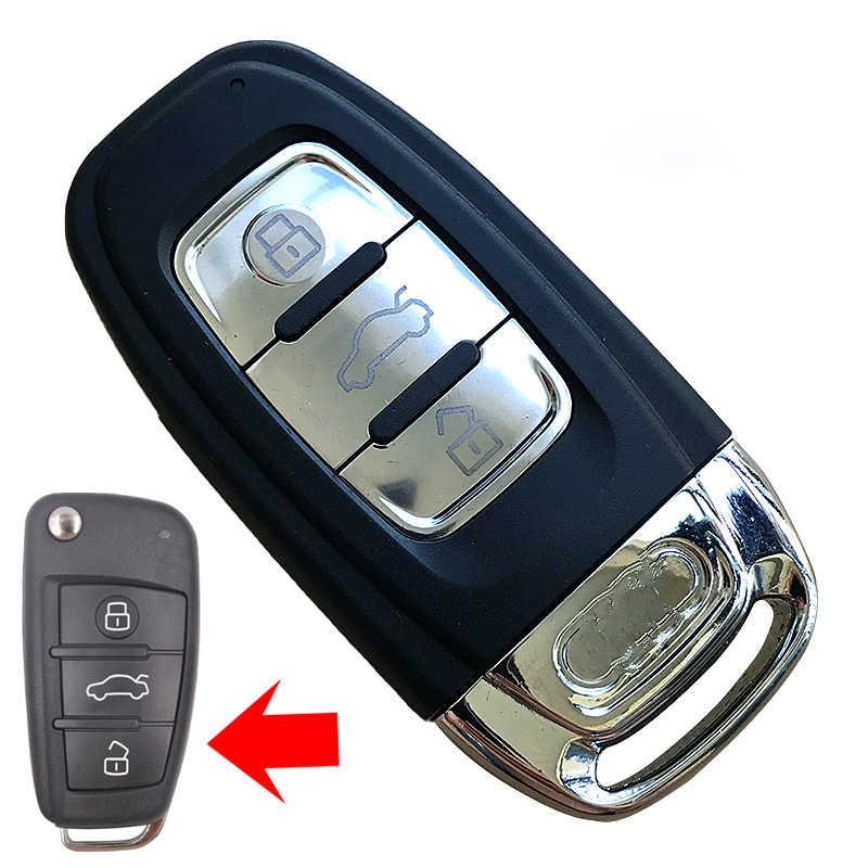 Xe Đổi Phím Remote Vỏ Chìa Khóa Dành Cho Xe Audi A6 Q7 A4 TT Nâng Cấp Thay Thế Chìa Khóa Có Logo Lưỡi Dao