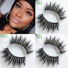 3D faux natural false eyelashes fake lashes long makeup 3d mink eyelash extension for beauty