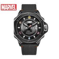100% Marvel Брендовые мужские часы Роскошные Thanos мужские спортивные часы мужские кварцевые наручные часы с кожаным ремешком часы 50 м водонепрон