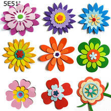 EVA Foam stereo wall sticker Flower series decorative stickers School blackboard poster
