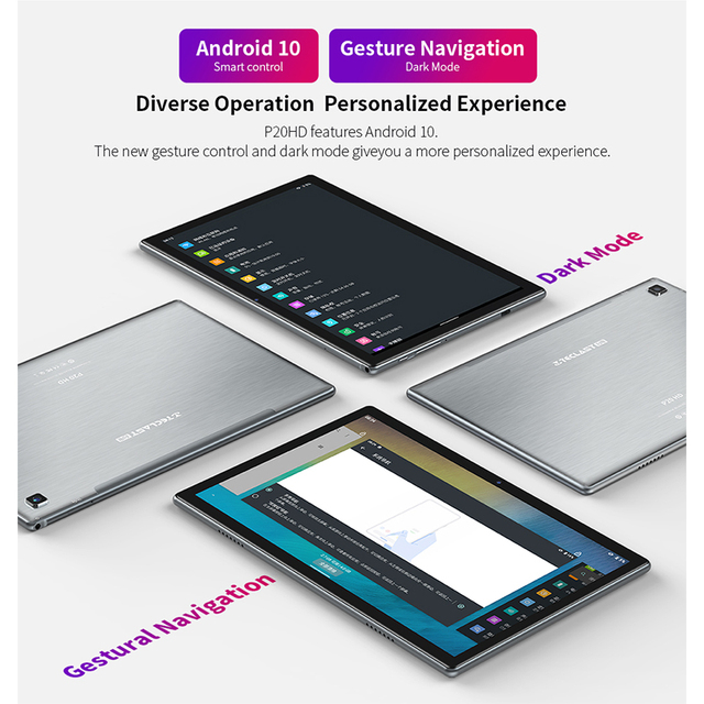 Teclast P20HD Tablet 10.1 inch IPS Android 10 Tablette 1920x1200 4GB RAM 64GB ROM Tablets PC SC9863A Octa Core 4G LTE Tabletas 2