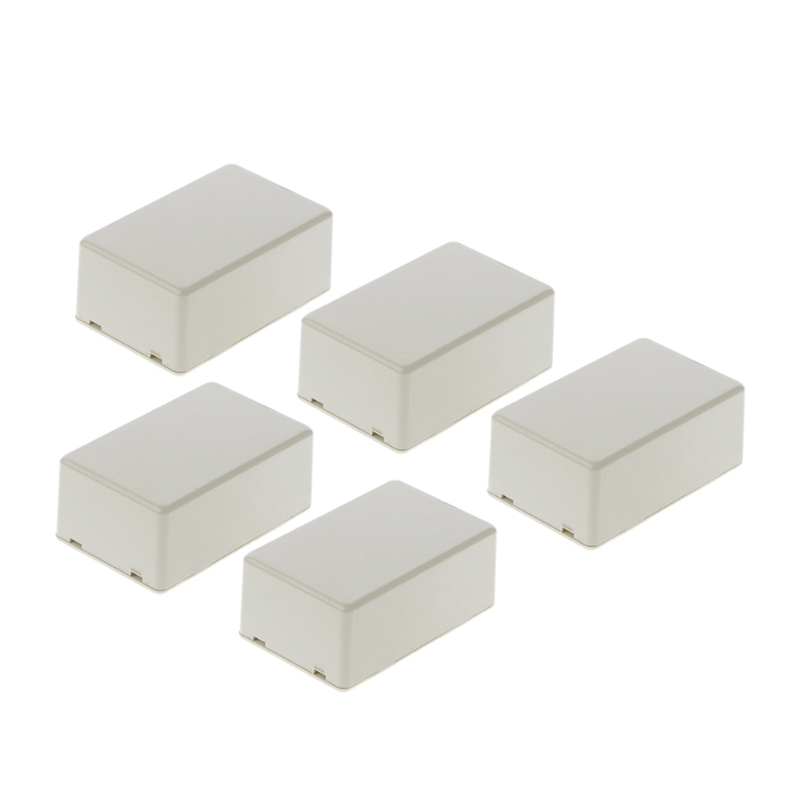 5Pcs New Plastic font b Electronic b font Project Box Enclosure Instrument Case DIY 70x45x30mm