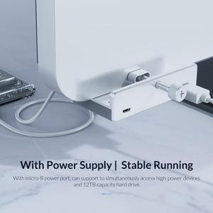 Image 5 - ORICO Clip type USB3.0 HUB Aluminum External Multi 4 Ports USB Splitter Adapter for Desktop Laptop Computer Accessories(MH4PU)