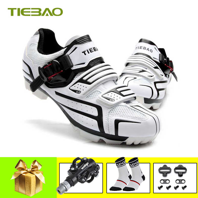 Tiebao sapatilha ciclismo mtb Men Women Bicycle Cycling Shoes Self-Locking Mountain Bike Shoes Breathable Pedals Riding Sneakers