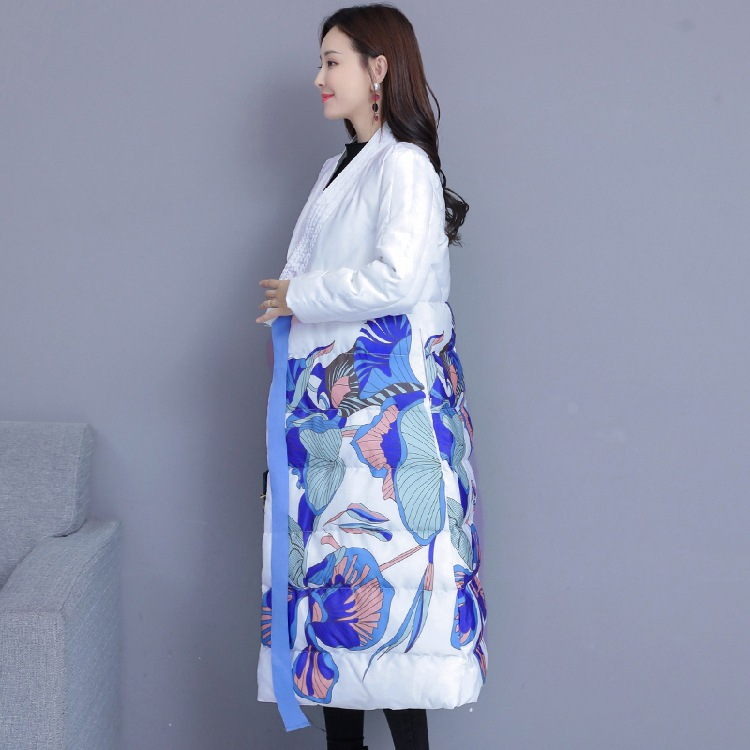 Cotton-padded Jacket Women's 2019 New Style Chinese-style Winter Thick Cotton Coat Long Over-the-Knee National Wind Retro Down F