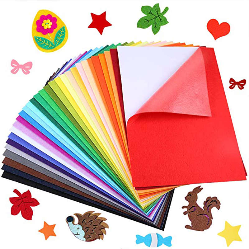26x26cm Handmade Nonwoven Fabric Fowers DIY Gift Colorful Manual Felt Cloth Polyester Tablecloth Square Hand Crafts