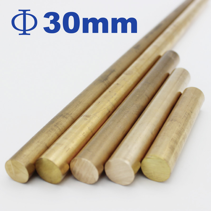 Brass Rods, Diameter 30mm, Length 50mm To 600mm