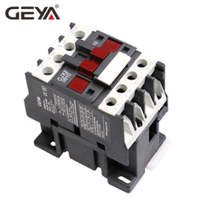 GEYA CJX2-0910 Din Rail Magnetic Contactor 220V or 380VAC Contactor 3Phase  LC1D-09 Electric Contactor Telemecanique цена