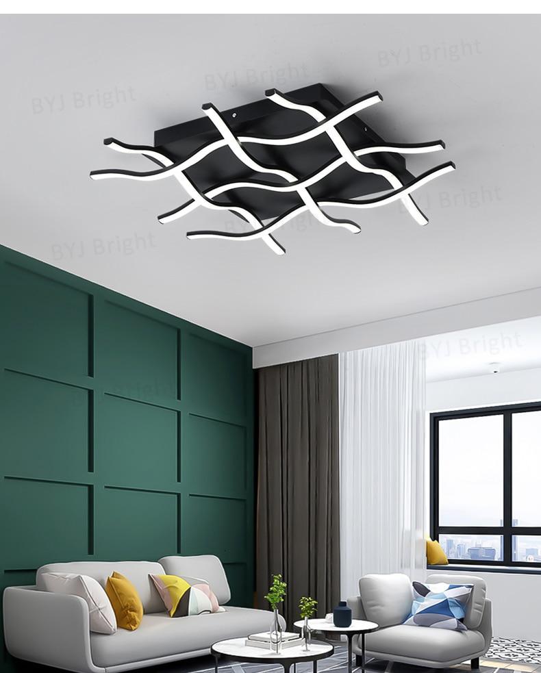 H64a98f73a3f64920a40ab4c0d590b39e8 Homelight | Modern Floor Lamps | Creative Modern LED Ceiling Lights For Living Room Bedroom Kitchen Black/White Deco Ceiling Lamp Indoor Home Lighting Fixtures 001