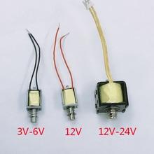 DC 3V 6V 12V 24V mikro Solenoid elektromıknatıs İtme çekme tipi elektrik mıknatıs ev için aletleri bahar mıknatıs