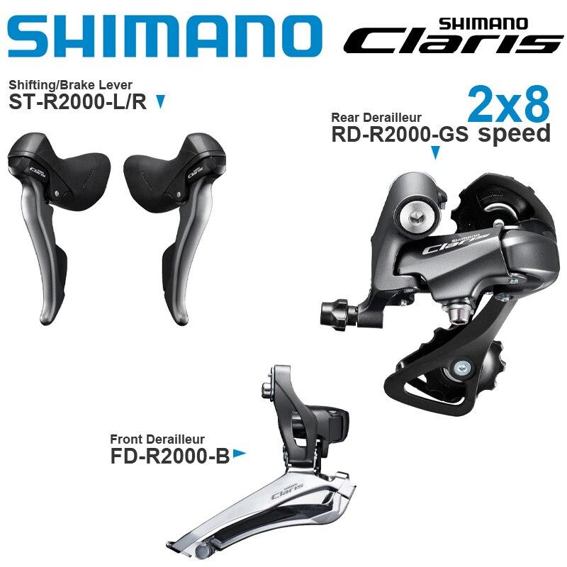 Оригинальный переключатель передач SHIMANO CLARIS R2000 8 в и задний/передний переключатель передач 2x8 скоростей для дорожного велосипеда