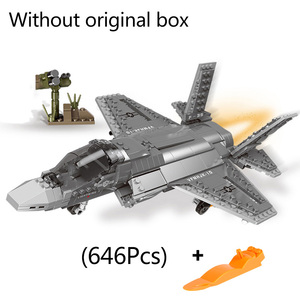 Image 5 - XINGBAO 06023 WW2 Military Army Series The AC130 Aerial Gunboat Set Building Blocks Bricks Assembly Airplane Model Juguetes