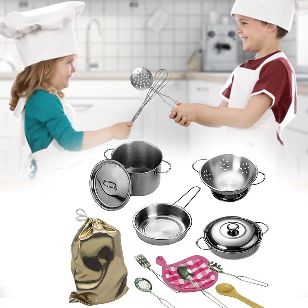Best Top Kids Stainless Steel Kitchen Set Toy Near Me And Get Free Shipping A103