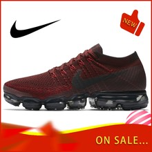 Authentic Original Nike Air VaporMax Flyknit Men's Running Shoes Fashion Outdoor Sports Trend 2019 New Breathable 849558-601(China)