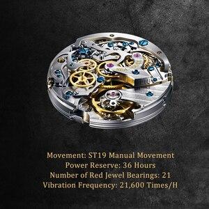 Image 4 - Martı izle manuel kronograf retro pilot izle hatıra sınırlı sayıda mekanik saat
