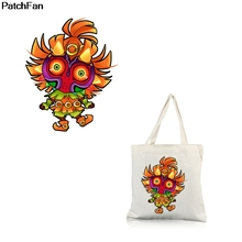 Patchfan Cartoon Punk horror heat press iron on Patches DIY T-shirt Thermal transfer stickers A2537 blinghero cartoon thermal patches cute iron on patch stickers t shirt jacket heat transfer patches diy pacth bh0350