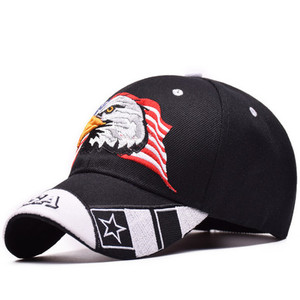 Image 2 - を 2019 新イーグル刺繍野球帽ファッションヒップホップの帽子アウトドアスポーツキャップ人格トレンドパパキャップ