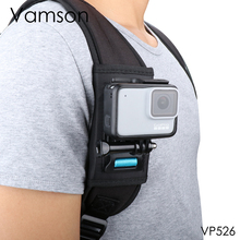 for Gopro 7 6 5 session Accessories Backpack Clip  for go pro Fixed Bracket Base for DJI OSMO for XiaoYi 4K Vamson VP526