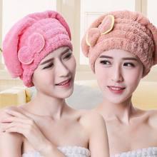 Toalha de cabelo de microfibra toalha de turbante rapidamente toalha de secagem de cabelo feminino meninas senhoras absorvente touca de banho produtos de banho d2