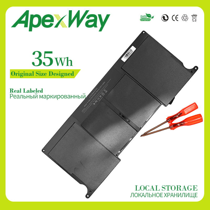 Apexway 35WH 7,6 v laptop akku für apple <font><b>Macbook</b></font> <font><b>Air</b></font> <font><b>11</b></font>