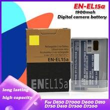 Batterie de caméra 7V 1900mah EN-EL15A ENEL15A EN EL15A, pour Nikon D850 D810 D810A D750 D500 D7000 D7500 D7200 D7100 D610 D600