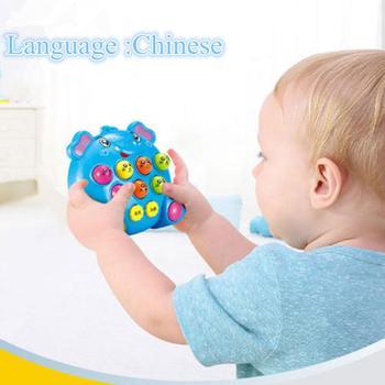 Bebê crianças brinquedos de música de plástico jogar bater bater hamster jogo de insetos tocando frutas verme educacional instrumentos musicais 1