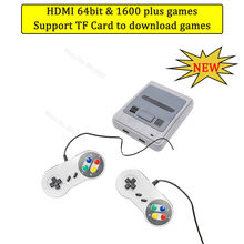 Mini HDMI TV 64 bits 1600 juegos Retro Video consola con cable Gamepad HD salida reproductor de juegos portátil para NEO GEO para PS1 regalo(China)