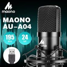 MAONO AU-A04 usb mikrofon für computer studio microfono kit kondensator mikrofon professionnel Podcast Mic pc singen Youtube