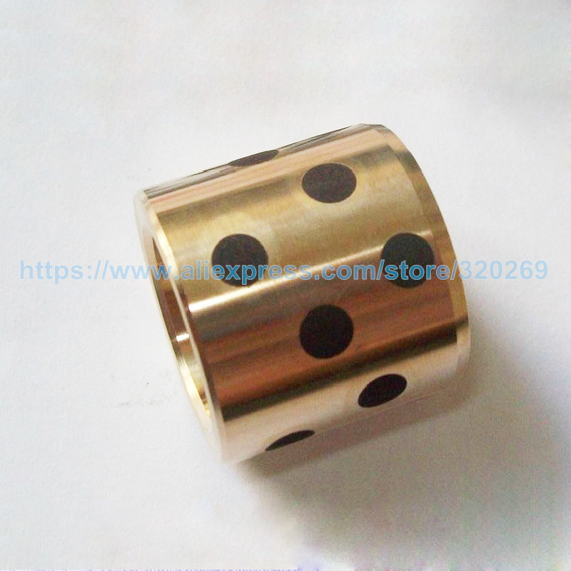 Self-Lubricating Bearings Inlaid Solid Graphite OD32mm ID22mm HIT12mm Oilless