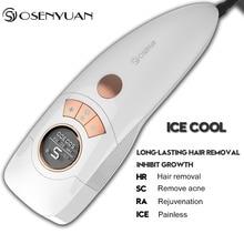 Osenyuan 4in1 Icecool IPL Laser hair removal Permanent For Face Body Leg Bikini Electric depiladora laser