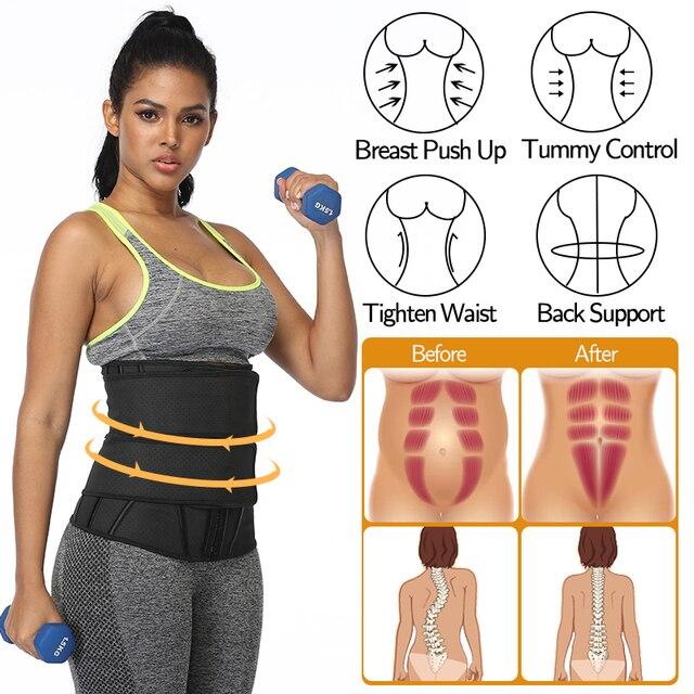 Boned Latex Waist Trainer Corsets for Women Weight Loss Body Trimmer Belt Slimming Shaper Workout Faja Compression Sweat Girdles 2