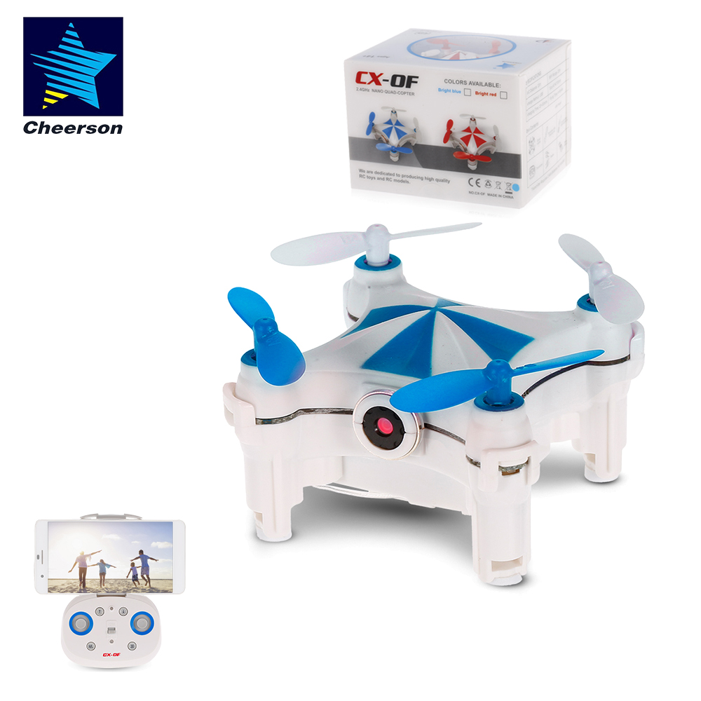 RC Mini Drone CX-OF with 30W Camera Wifi FPV 2.4G 4CH Selfie Height Hold Quadcopter Optical Flow Toys Drones For Kids Gift image