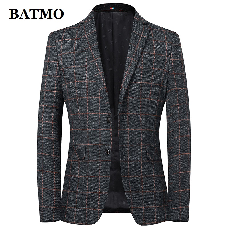 Batmo 2019 New Arrival High Quality Wool Plaid Casual Blazer Men,men's Suits Jackets ,casual Jackets Men  9837