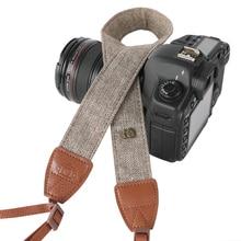 цены Adjustable Retro Elegant Durable Cotton Leather Camera DSLR Strap Shoulder Neck Soft Belt for Canon Nikon Sony Pentax SLR