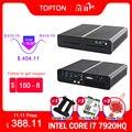 2Lan игровой мини-ПК Intel i7-7920HQ/7820HK GTX 1650 4 ГБ 2 * DDR4 NVME настольный компьютер Win10 4K HDMI2.0 DP DVI Оптоволоконный Wi-Fi
